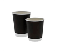 Black Double-Walled Cups