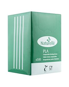 """8"""" Biodegradable Compostable PLA Straw"""