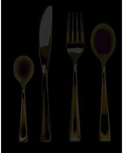 Metallic Finish Plastic Forks Recyclable