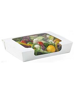 1000cc RapTray White Food Tray - Large with Window Recyclable