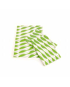 250x320mm Small Twist Burger Wraps Green