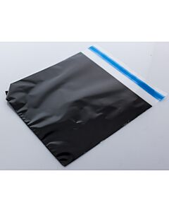 240 x 242mm Square Resealable Bags Black Back
