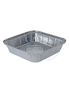 "2100cc 9x9"" Deep Aluminium Foil Food Containers Recyclable"