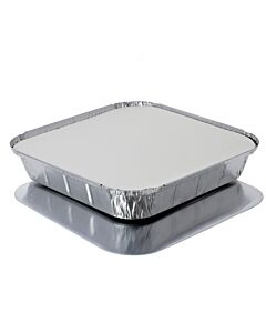 """9 x 9"""" Lids for 9 x 9"""" Foil Containers Recyclable"""