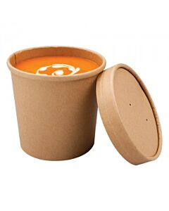 12oz Lid for Microwaveable Souper Cup Recyclable