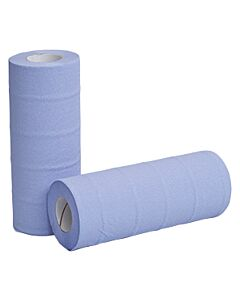 """10"""" Blue Wiping Rolls Compostable"""