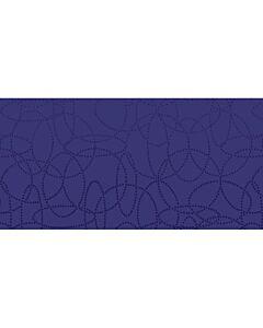 120x120cm Dunisilk Circuits Dark Blue