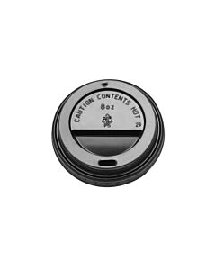 Black Domed Sip Lid to Fit 8-9oz Hot Cup Recyclable
