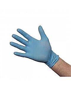 Extra Large Blue Nitrile Gloves - Powder Free
