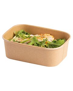 Stagione 750ml Kraft Recyclable Microwavable Food Container Base