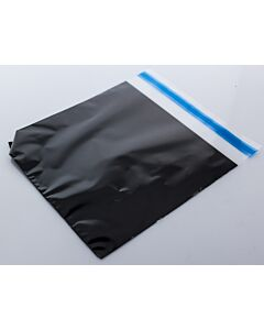 190x190mm Square Resealable Bag Clear Frnt-Black Bck