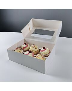Cupcake Boxes with 6 holes for cupcakes Compostable