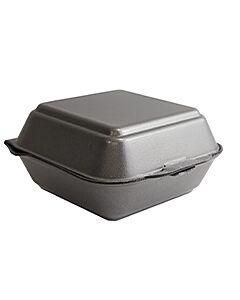 HP6 Black Polystyrene Takeaway Food Boxes