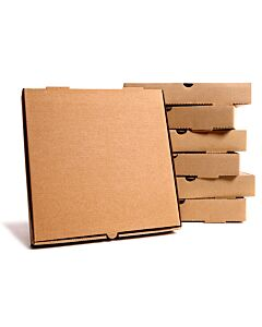 18 inch Pizza Boxes Plain Brown Compostable
