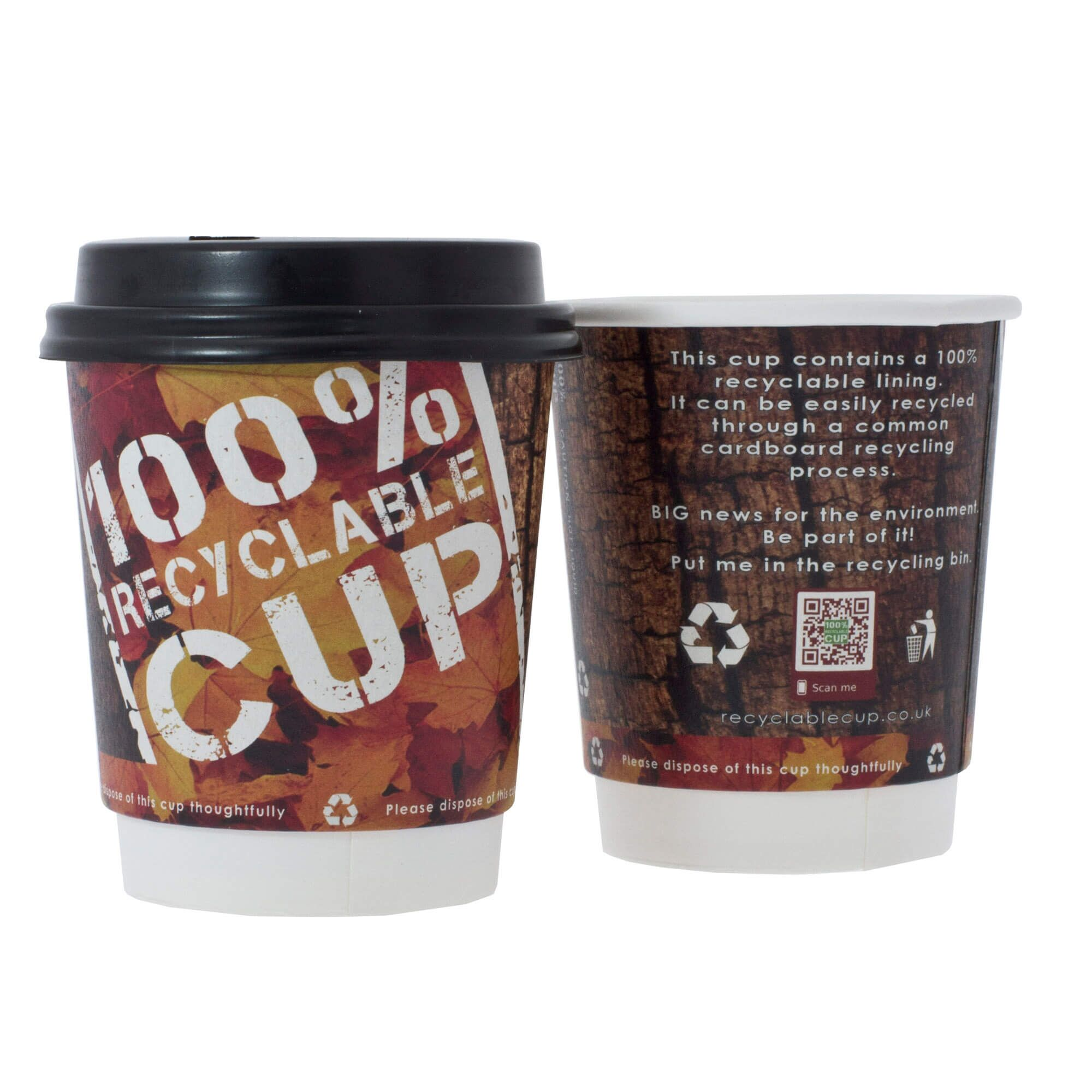 100 Pack 12 oz To Go Coffee Cups with Sleeves & Lids Disposable & Recycla