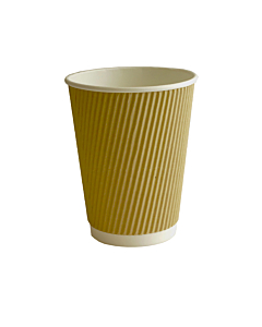 12oz Kraft Ripple Paper Cups Recyclable