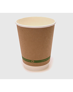 12oz Double Walled Compostable Cups Kraft