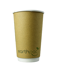 16oz earthpac Double Wall Compostable, Biodegradable & Recyclable Paper Cups