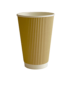 16oz Kraft Ripple Paper Cups Recyclable