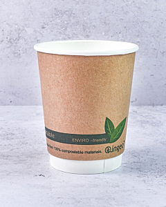 8oz INGEO Double Walled Compostable Cups