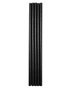 All Black Paper Straws Compostable