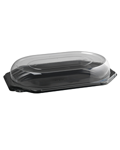 Small Small Black Octagonal Platters (Base) Recyclable