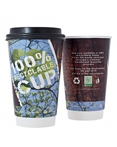 16oz 100% Recyclable Cup Double Walled