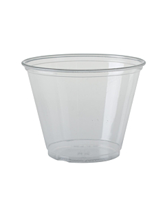 9oz Clear Smoothie Shake Squat Cups Recyclable