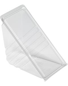 Triple Plastic Triple Hinged Sandwich Wedges Recyclable