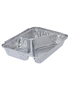 3 Compartment Aluminium Foil Food Trays Recyclable