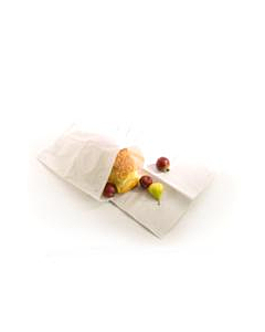 """12 X 12.5"""" White Strung Paper Bags Compostable"""