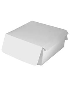 "7 x 7 x 3"" Folding Cake Box White Recyclable"