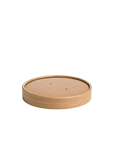 Kraft Soup Lids For 8/12oz Containers Compostable