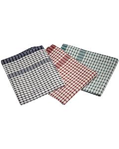 46X69cm Cotton Check Ttowel Mix Colours
