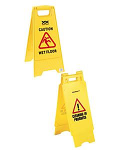 Caution Wet Floor / Cleaning In Progress safety sign