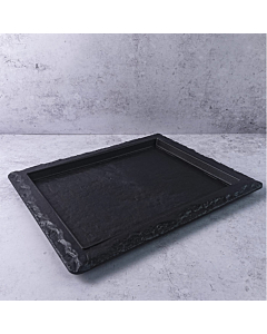 Half Length - GN1/2 Slate Look Platters - Half Length Gastronorm Recyclable