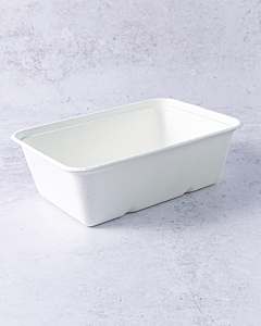 500cc Bagasse Rectangular Food Trays Compostable
