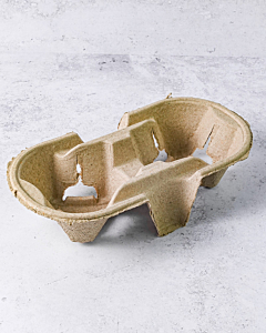 2 Cup Carry Tray Recyclable