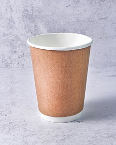 12oz Double Walled Kraft Paper Cup