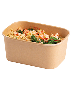 Stagione 1000ml Kraft Recyclable Microwavable Food Container Base