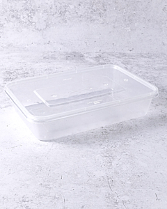 500cc Microwaveable Plastic Container with Lids - Recyclable
