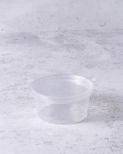 1oz Microwavable Portion Pot with Hinged Lid