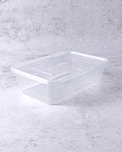 650cc Microwaveable Plastic Container with Lids