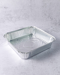 """2100cc 9x9"""" Deep Aluminium Foil Food Containers Recyclable"""