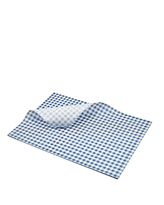 Blue Gingham Greaseproof Sheets 25x20cm