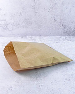 """8.5 x 8.5"""" Brown Strung Paper Bags Compostable"""