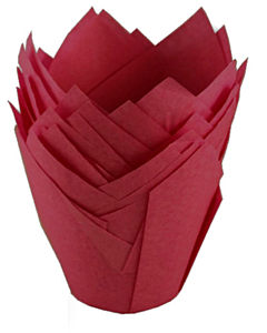175X175MM RED TULIP MUFFIN WRAP