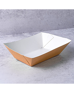 Kraft Food Tray / Chip Tray Recyclable