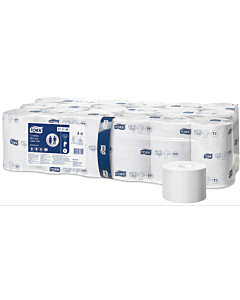 2PLY WHITE COMPACT T-ROLL NEXT TURN SYSTEM - 472199 - Compostable