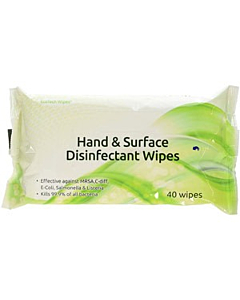 Hand and Surface Disinfectant Wipes
